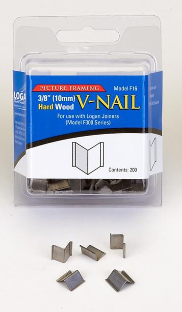 Inramning Logan 10 mm V-nail for hard wood F16 200-p