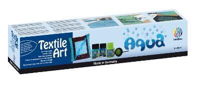 "Textilpenna Nerchau Art set 6x20ml För Mörka tyger ""Aqua"" utgår"