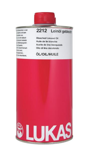 Oljemedium Lukas  Linolja rå 1000ml