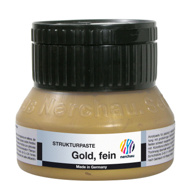 Strukturmedium Nerchau Structure Paste Gold fine 250ml utgår