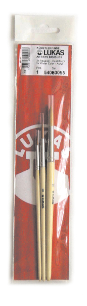 Syntetpenselset Lukas 5408 Goldtoray Set om 3 penslar