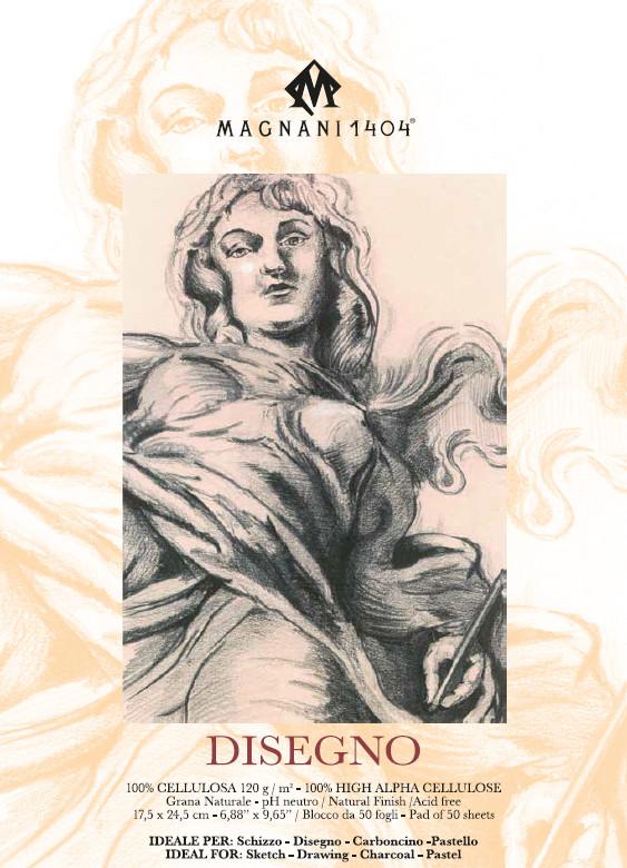 Ritblock  Magnani   Disegno  120g  17,5x24,5cm 50ark (12F)