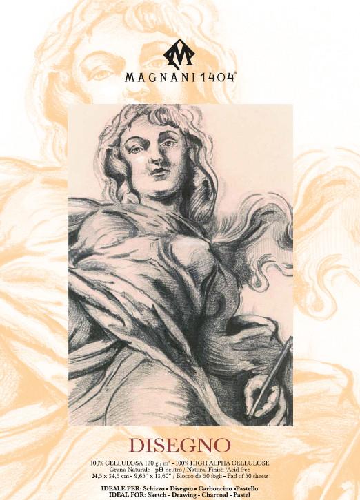 Ritblock  Magnani   Disegno  120g  24,5x34,5cm 50ark (6F)