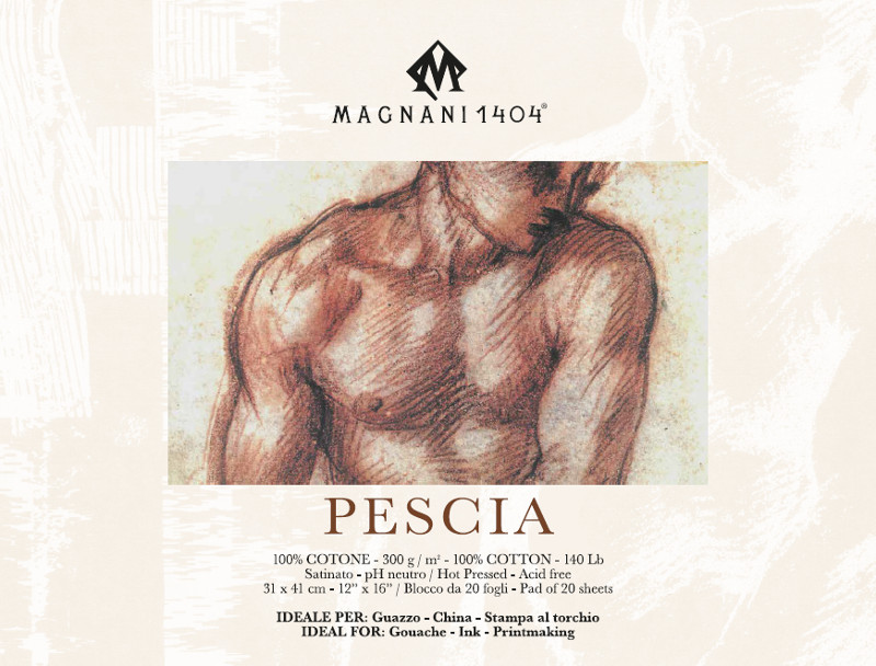 Målarblock Magnani 1404 Pescia 300g 31x41cm 20ark