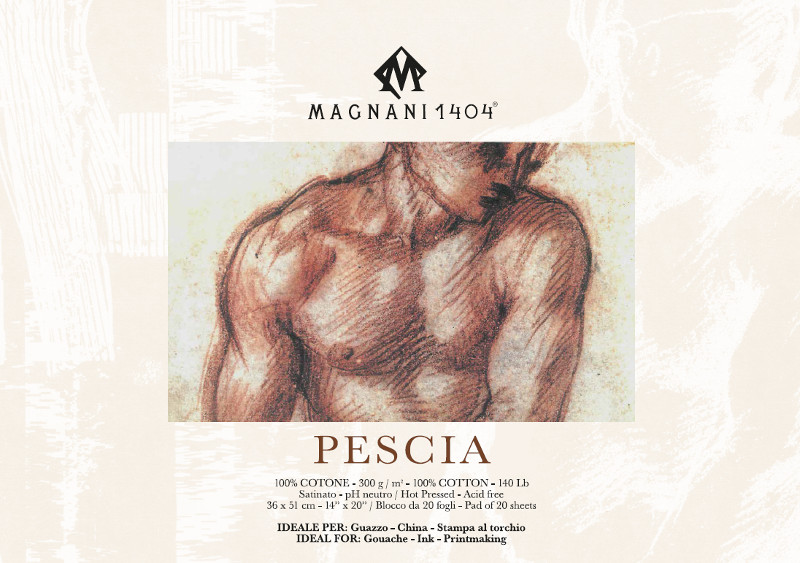Målarblock Magnani 1404 Pescia 300g 36x51cm 20ark