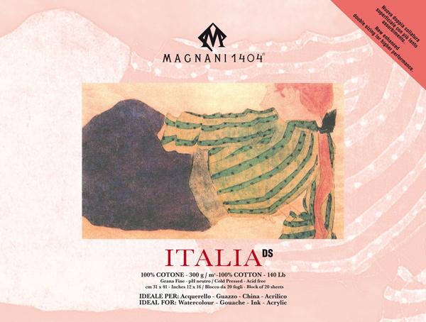 Akvarellblock Magnani 1404 Italia DS 300g GF 31x41cm 20ark