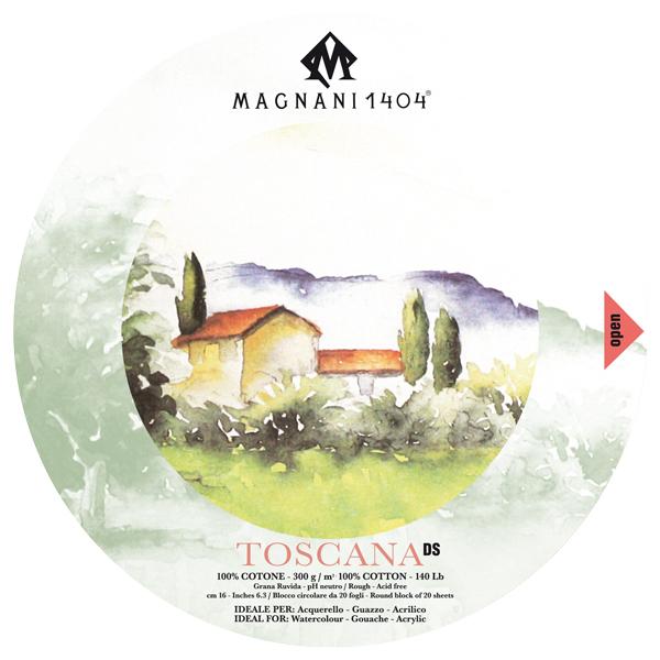 Akvarellblock Magnani 1404 Toscana DS 300g GG Rund 16cm 20ark