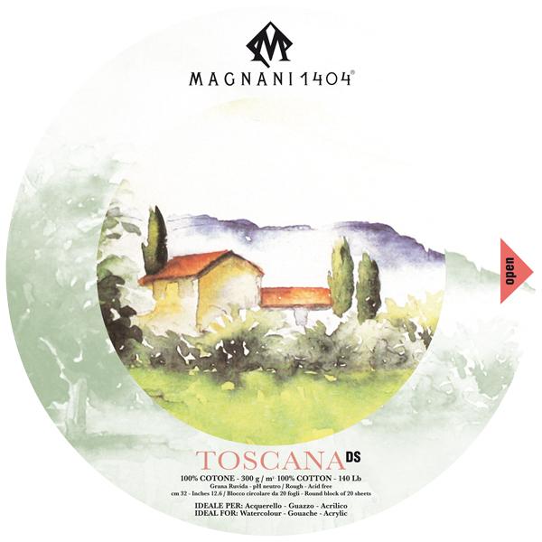 Akvarellblock Magnani 1404 Toscana DS 300g GG Rund 32cm 20ark