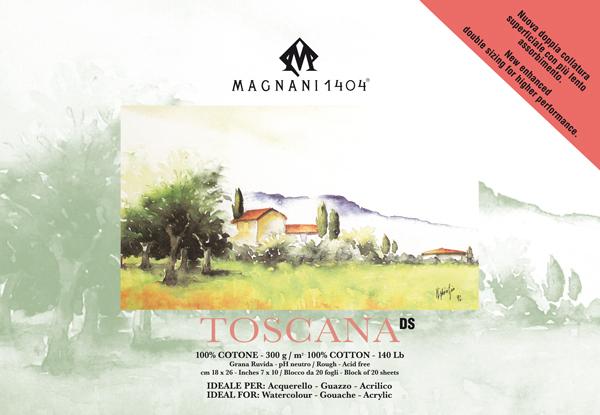 Akvarellblock Magnani 1404 Toscana DS 300g GG 18x26cm 20ark