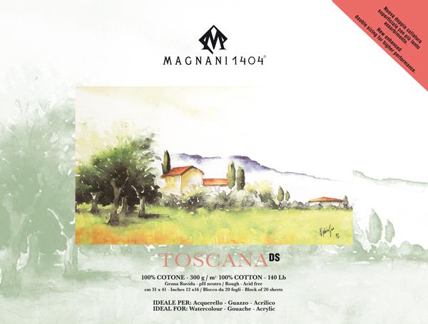 Akvarellblock Magnani 1404 Toscana DS 300g GG 31x41cm 20ark