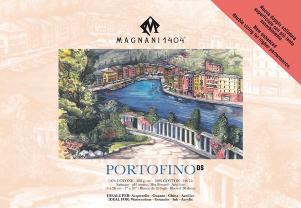 Akvarellblock Magnani 1404 Portofino DS 300g S 18x26cm 20ark
