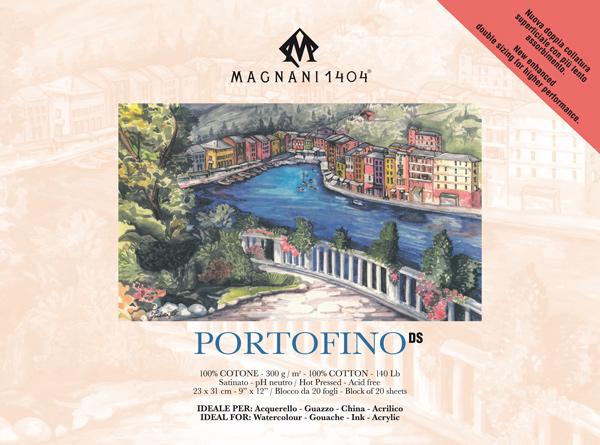 Akvarellblock Magnani 1404 Portofino DS 300g S 23x31cm 20ark