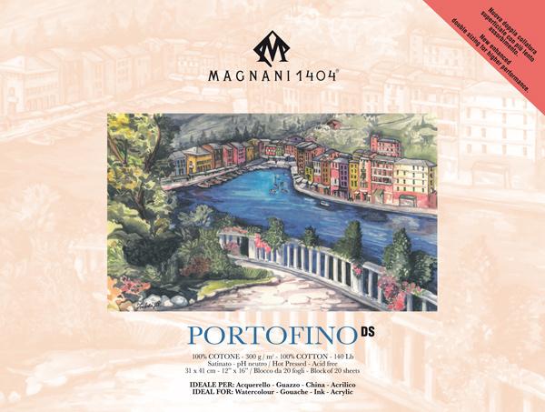 Akvarellblock Magnani 1404 Portofino DS 300g S 31x41cm 20ark