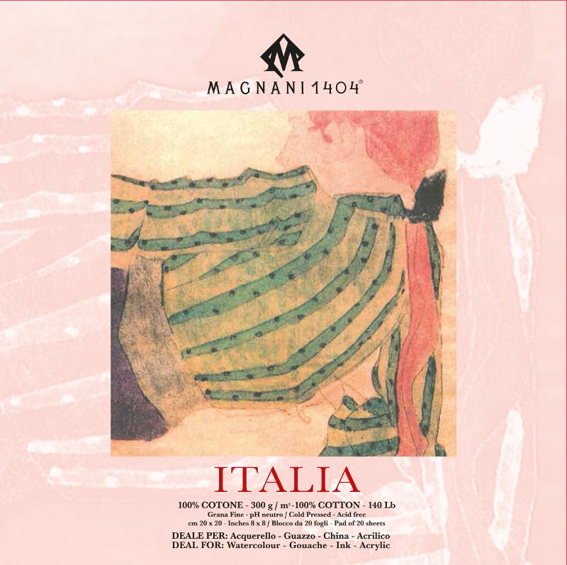 Akvarellblock Magnani Italia 300g GF 20x20cm 20ark (12F)
