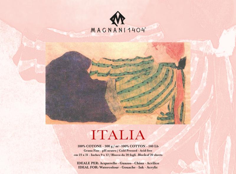 Akvarellblock Magnani Italia 300g GF 23x31cm 20ark (12F)
