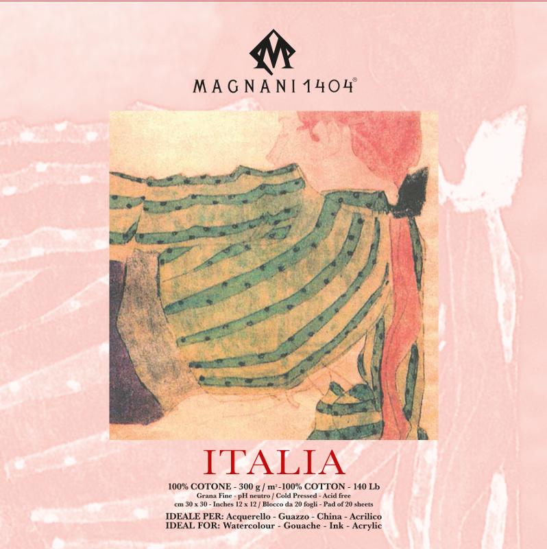 Akvarellblock Magnani Italia 300g GF 30x30cm 20ark (12F)