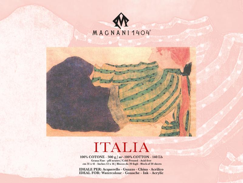 Akvarellblock Magnani Italia 300g GF 31x41cm 20ark (6F)