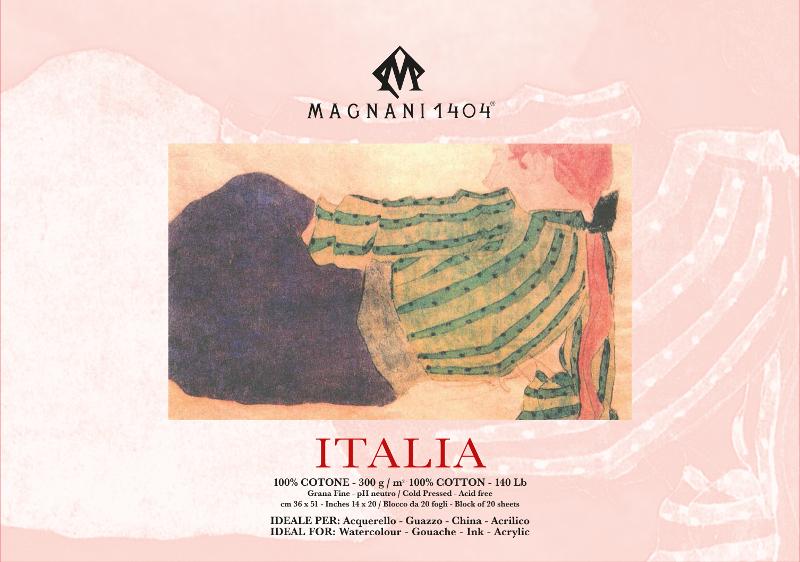 Akvarellblock Magnani Italia 300g GF 36x51cm 20ark (3F)