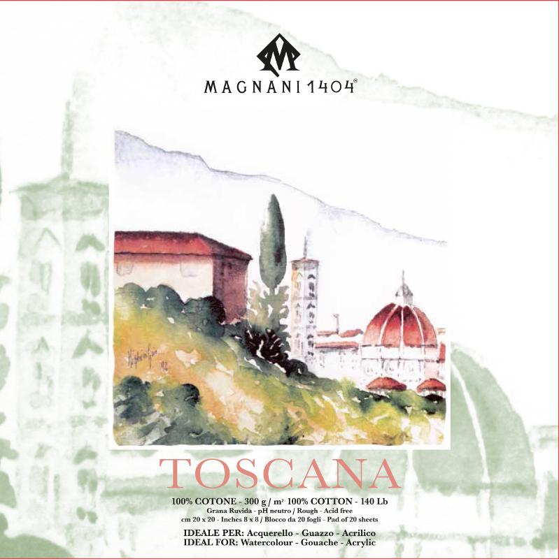 Akvarellblock Magnani Toscana 300g GG 20x20cm 20ark (12F)