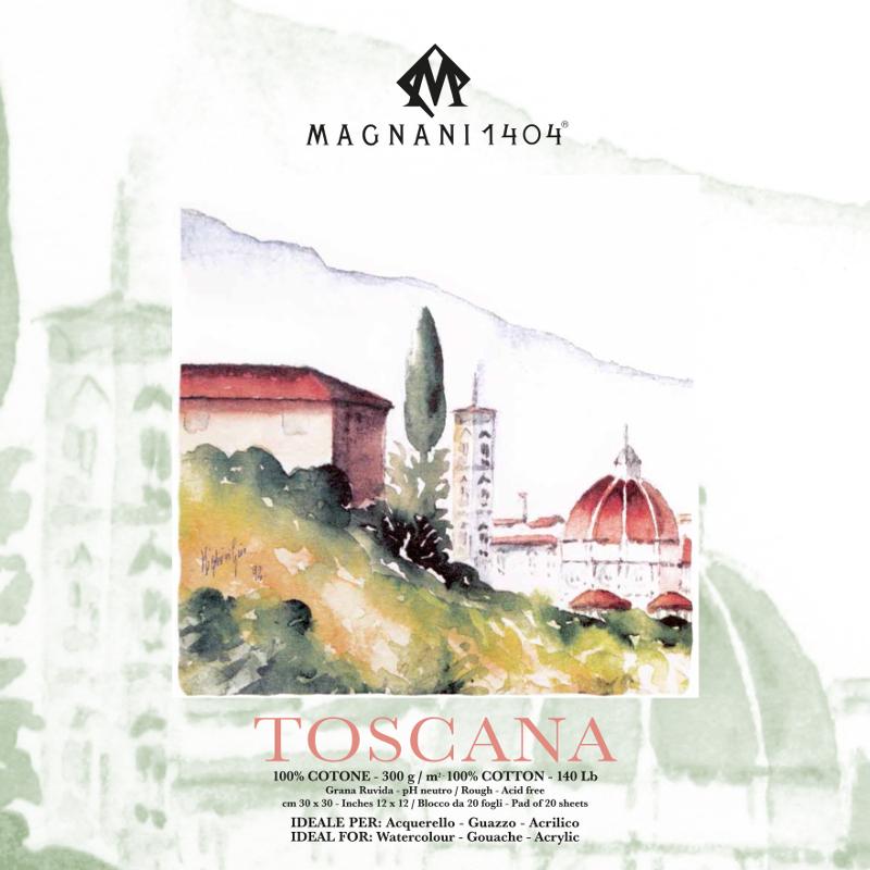 Akvarellblock Magnani Toscana 300g GG 30x30cm 20ark (12F)