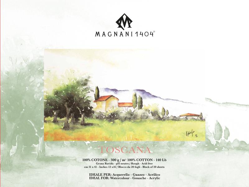 Akvarellblock Magnani Toscana 300g GG 31x41cm 20ark (6F)