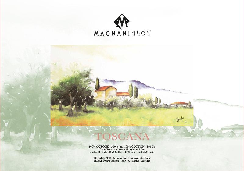 Akvarellblock Magnani Toscana 300g GG 36x51cm 20ark (3F)