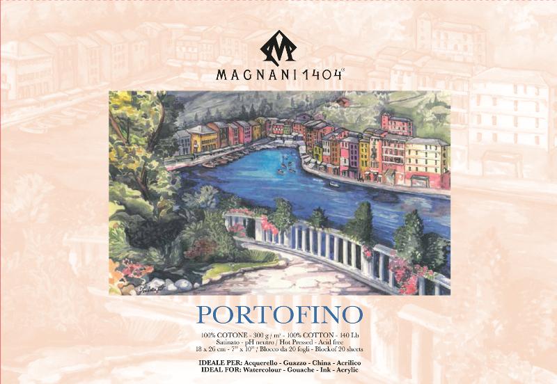 Akvarellblock Magnani Portofino 300g S 18x26cm 20ark (12F)