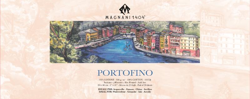 Akvarellblock Magnani Portofino 300g S 20x50cm 20ark (12F)