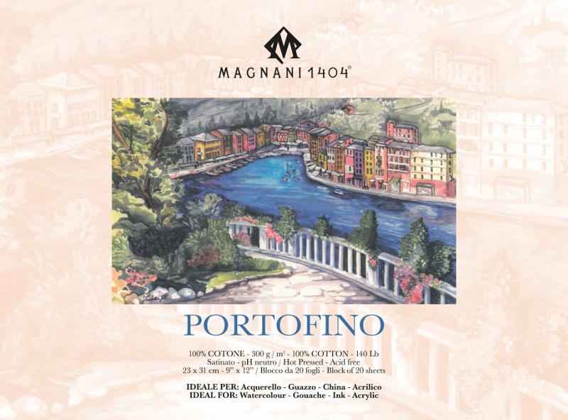 Akvarellblock Magnani Portofino 300g S 23x31cm 20ark (12F)