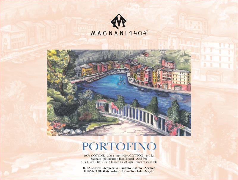 Akvarellblock Magnani Portofino 300g S 31x41cm 20ark (6F)