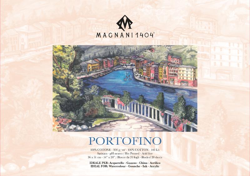 Akvarellblock Magnani Portofino 300g S 36x51cm 20ark (3F)