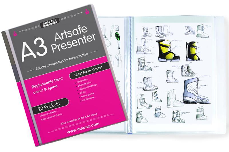 Plastmapp Mapac ArtSafe Presenter A3 20 Fickor (3F)