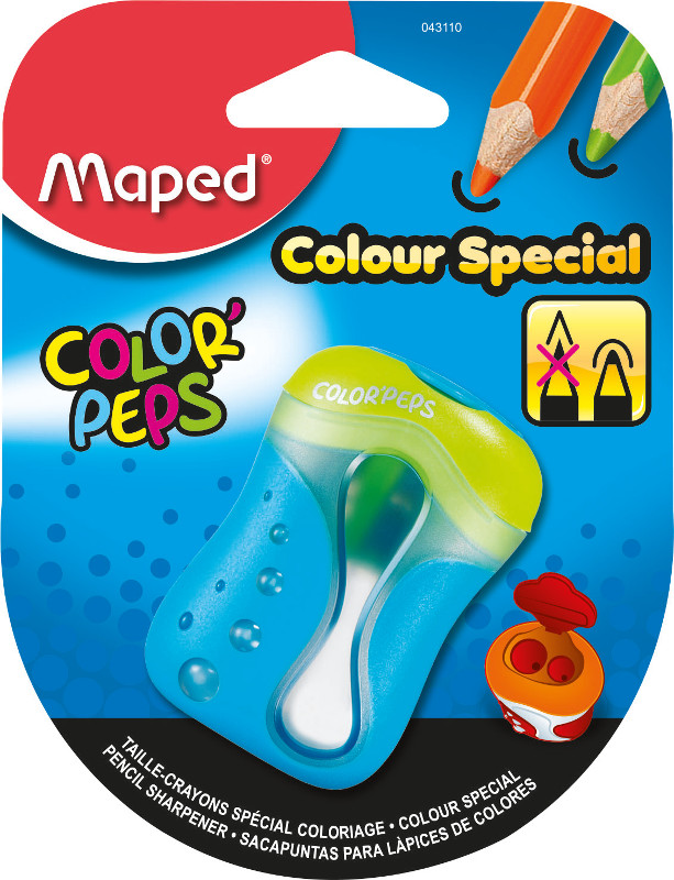 Pennvässare Maped colorpeps pencil sharpener  special colouring - two holes canister- (25F) 043110
