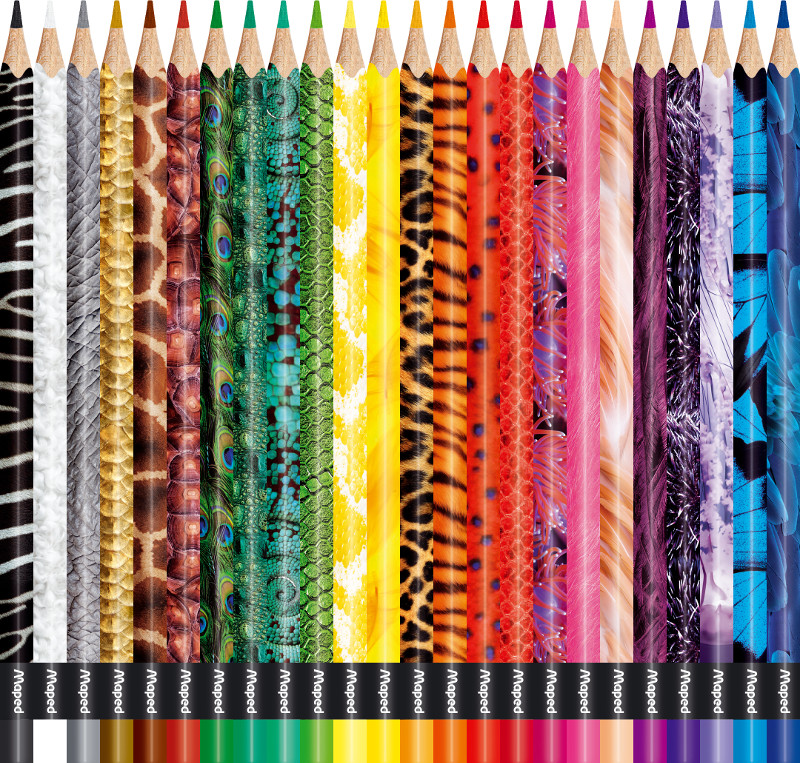 Färgpennset Maped colorpeps 24 pencils animal (12F)