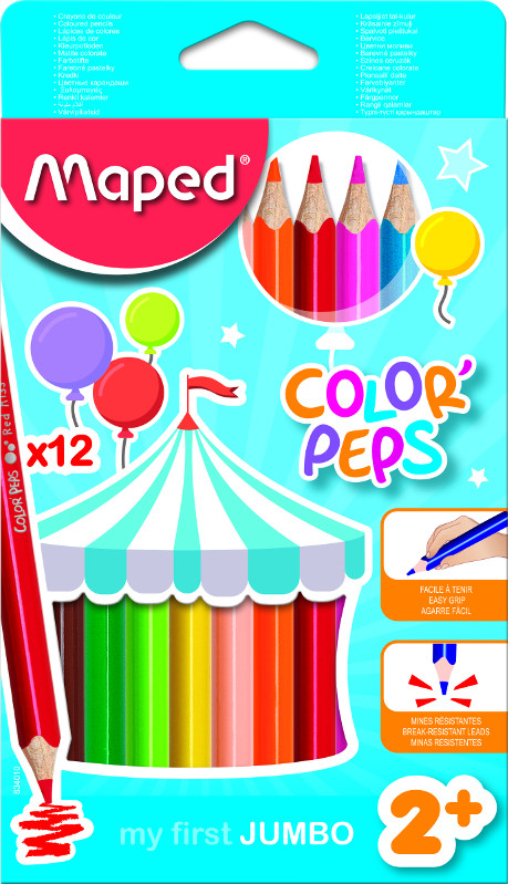 Färgpennset Maped color peps early age 12 coloured pencil jumbo (12F)