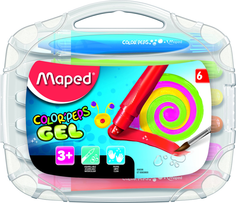 Kritpenset Maped color peps 6 gel crayon (12F)