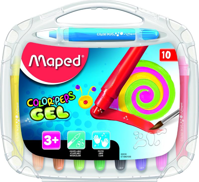 Kritpenset Maped color peps 10 gel crayo (12F)