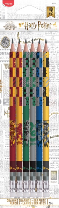 Harry Potter Graphite pencils blister x6 (12F)
