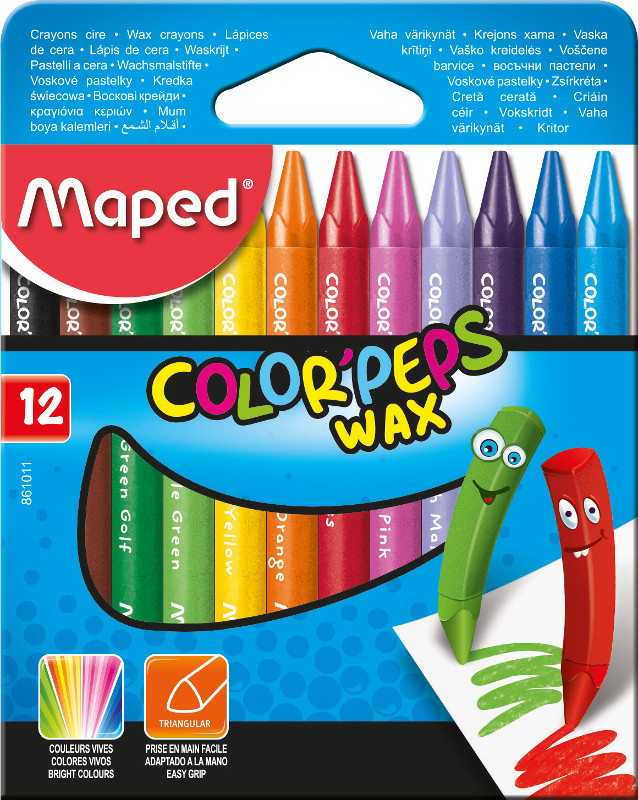 Kritpenset Maped colorpeps 12 wax crayons (12F)