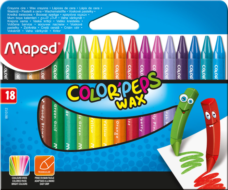 Kritpenset Maped colorpeps 18 wax crayons (12F) (861012)