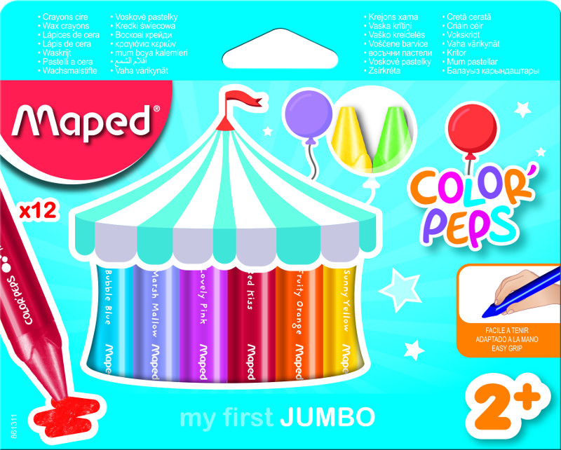 Kritpenset Maped colorpeps early age 12 wax crayon maxi  (12F)