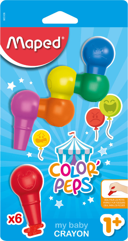 Babykritset Maped colorpeps 6 baby crayons (12F)