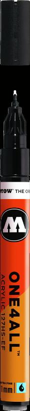 Akrylmarker Molotow 127HS-EF 1mm signal black 180