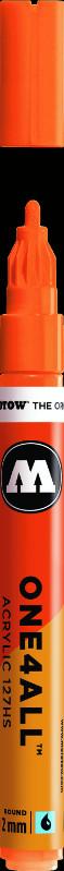Akrylmarker Molotow 127HS 2mm neon orange fluo. 218