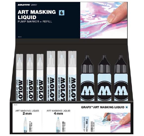 Molotow Bordsställ GRAFX Art Masking Liquid Complete Set