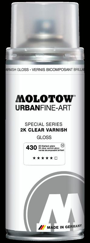 Sprayfärg Molotow Akryl UrbanFineArt 400ml 2k clear gloss varnish 430 (4F)