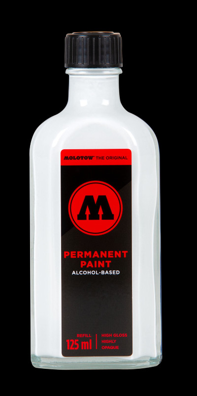 Molotow Permanent Paint Alcohol Refill 125ml Signal White
