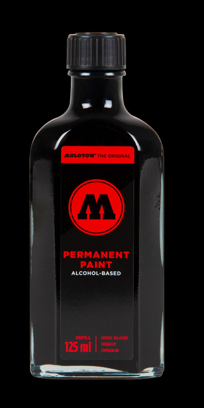 Molotow Permanent Paint Alcohol Refill 125ml Signal black