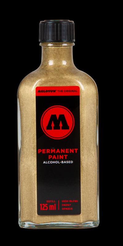 Molotow Permanent Paint Alcohol Refill 125ml Gold