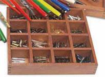 Kalligrafi Manuscript Trälåda för Kalligrafistift 16 fack utgår